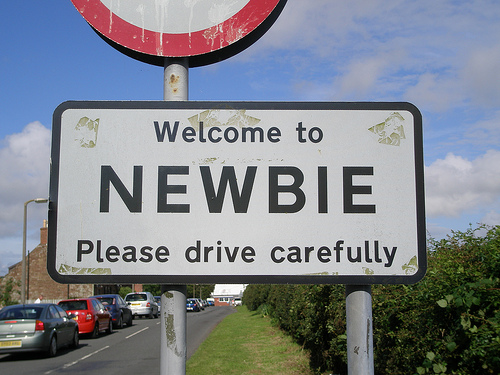 newbie-roadsign