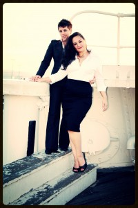 "'Engagement Photo Shoot"" at the Queen Mary, Long Beach CA"